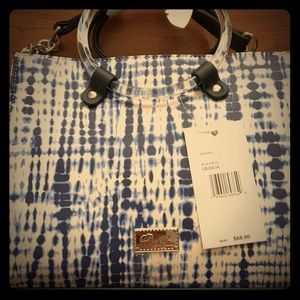 NWT blue and white satchel betsey Johnson